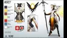 A detailed look at Mercy in her concept form.