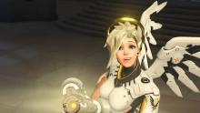 Mercy's sunny disposition is seen regularly in game.