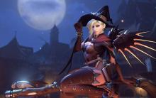 In the extremely popular Halloween event, Mercy played the role of the Witch.