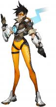 Concept Art for the default Tracer skin.