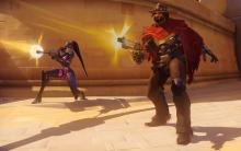 A Widowmaker paired with a McCree can be effective against turrets.