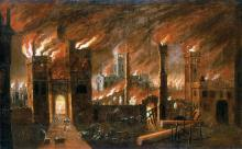 The date 1666 was feared for its last three numbers which signify the number of the devil according to the Bible, and the fire which raged for three days in London made people believe that the world was indeed ending. Only around 10 lives were lost, however.