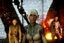 This elven mage Inquisitor not only uses a complexion mod, but models an armor mod as well.