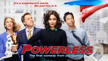 Powerless is a DC tie-in that deals with the insurance agents who live in a Super-hero filled world.