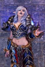 Since then, she was hired by many video game companies to promote their work and cosplay as their characters.