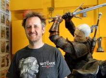 The CD Projekt Red HQ is full of statues of game characters and items as well as replicas and antiques of actual weapons and objects from way back when.
