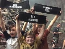 Wyatt Oleff alongside Jeremy Ray Taylor, and Jaeden Liehberher holding their roles proudly