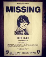 Richie Tozier's 'Missing' Poster around town