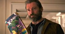 Logan is pretty upset in this scene, thinking he's on a wild goose chase, but it's really cool that they added in a comic to this movie.
