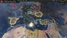 Wolrd map in Hearts of Iron IV