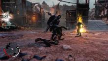 Talion slaying orcs in Shadow of Mordor