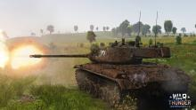 Tank fires off in a distance, possibly at a target