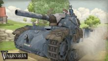 The tank plows through the enemy that dares travel through your land