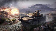 A tank within the World of Tanks is firing in a distance