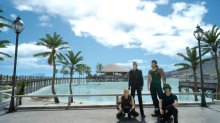 The Final Fantasy 15 crew spending a day at the sunny Galdin Quay.