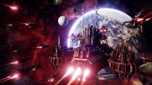 Groups of your ships in Battlefield Gothic Armada are charging at the station floating in orbit