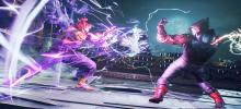 Akuma builds up energy, about to pounce on his opponent and unleash a powerful attack.