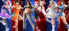 An image showing a collage of all the girl fighters that Tekken 7 will feature. They have always had a good reputation for including fairly balanced female fighters in their games.