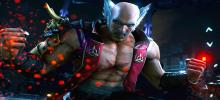 Heihatchi, one of the main characters of the story stands facing out of the screen and seething anger.