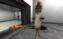 SCP - 173. Blink, and you'll miss him. Largely because he only moves if you take your eyes off him.