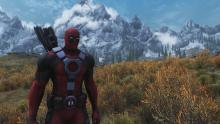 A mod allowing you to dress up in Deadpool's armour.