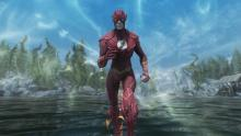 The Flash brought to Skyrim, replete with his remarkable speed.