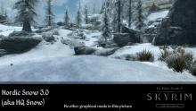 Nordic snow adds a more crystalline, real-looking sheen to Skyrim's snow details.