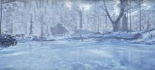 Even the most harsh of environments such as this frozen forest seem very inviting in this game.