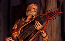 A bard's primary weapon is his honeyed words.