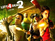 The Left 4 Dead 2 Survivors Are Surrounded By Zombies And Are Trying To Fend Them Off