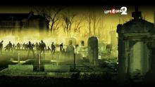 Several Zombies Roam Around The Cemetery