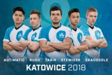 Cloud9 players (left to right): autimatic, RUSH, tarik, Stewie2K, & Skadoodle