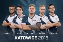 Team Liquid players (left to right): steel, NAF, nitr0, EliGE, & Twistzz