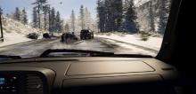 Be careful, snow and ice can send your car spinning.