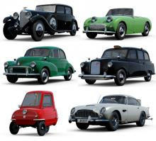 Don't forget about Britain's rich automobile history. Check out some antiques.