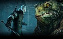 Geralt faces off against the toad prince in Oxenfurt sewers