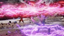 Frieza charges his Death Saucer against Goku