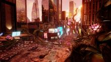 The collision with the Jump World destroys New York