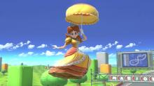 Daisy making her first entrance as a fighter in Smash