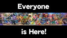 Full view of the cast for Smash Ultimate