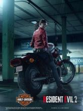 Capcom partnered with Harley Davidson to bring Claire's famous ride to life.