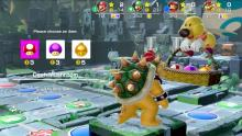 Bowser selecting an item in Super Mario Party