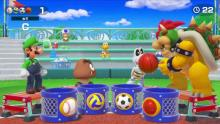 Ball passing game in Super Mario Party