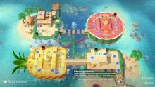Four islands looping in a track in Super Mario Party