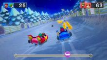 Sled minigame in Super Mario Party