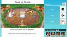 Tutorial screen for a Super Mario Party minigame