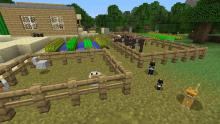 Players can farm, and raise livestock if they wish