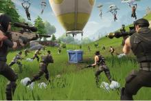 Players racing for that supply drop!