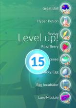 Get rewards and valuable items when leveling up in Pokemon Go!