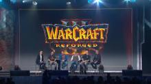 The panel talking about the new features of the game at the 2018 Blizzcon